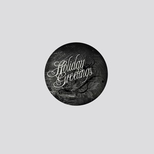 Gothic Holiday Greetings Mini Button