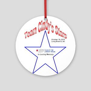 Team Cindy's Stars LTN Tee Ornament (Round)