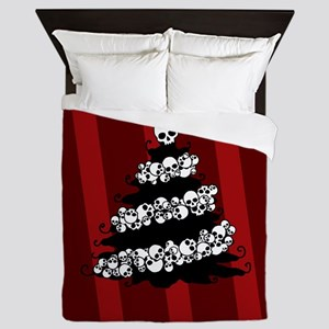 Gothic Tree With Skull Garland Queen Duvet