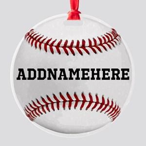 Personalized Baseball Red/White Ornament