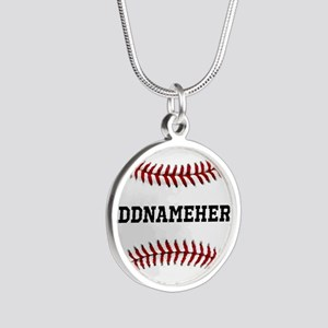 Personalized Baseball Red/White Necklaces