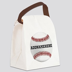 Personalized Baseball Red/White Canvas Lunch Bag