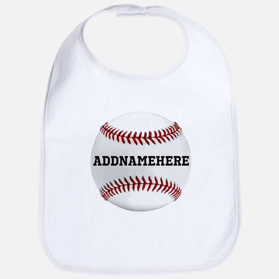Personalized Baseball Red/White Bib