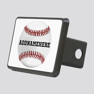 Personalized Baseball Red/White Hitch Cover