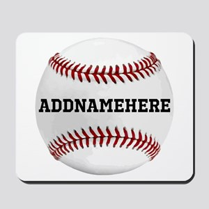 Personalized Baseball Red/White Mousepad