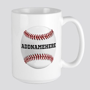 Personalized Baseball Red/White Mug