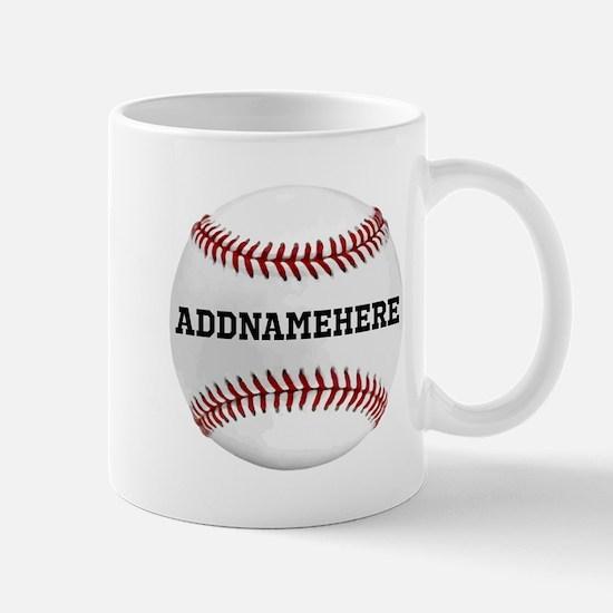 Personalized Baseball Red/White Mug