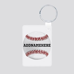 Personalized Baseball Red/white Keychains