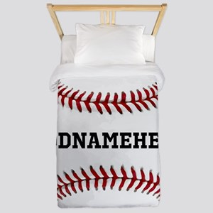 Personalized Baseball Red/White Twin Duvet