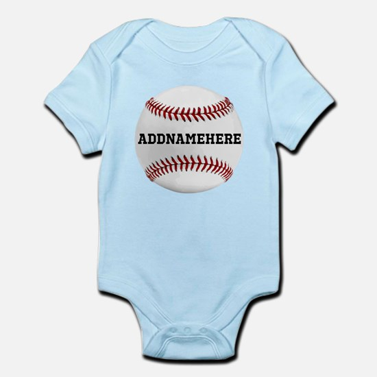 Personalized Baseball Red/White Body Suit