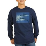 Leaping Dolphins Long Sleeve Dark T-Shirt