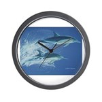 Leaping Dolphins Wall Clock