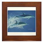 Leaping Dolphins Framed Tile