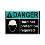 Hard Hat Protection Needed. Rectangle Magnet (10 p