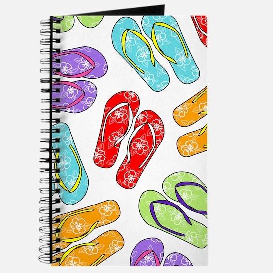 Colorful Flip Flops Beach Print Journal