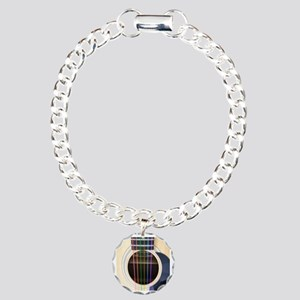 Neon String Acoustic Guitar Charm Bracelet, One Ch