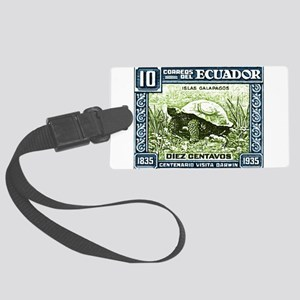 1936 Ecuador Galapagos Tortoise Postage Stamp Lugg