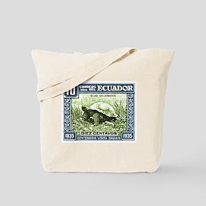 1936 Ecuador Galapagos Tortoise Postage Stamp Tote