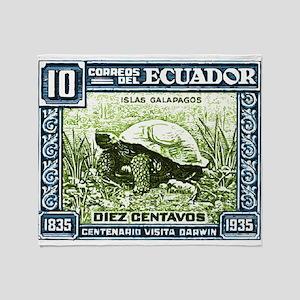 1936 Ecuador Galapagos Tortoise Postage Stamp Thro