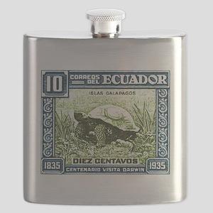 1936 Ecuador Galapagos Tortoise Postage Stamp Flas
