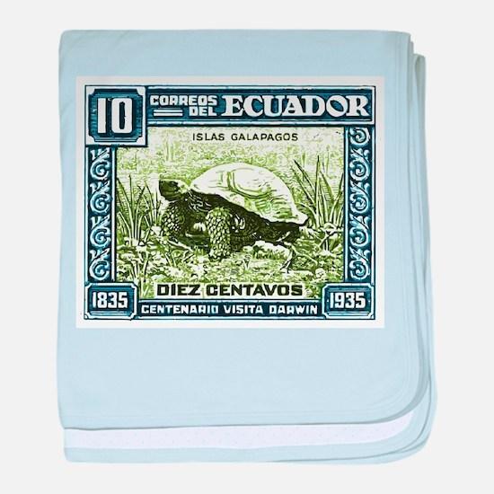 1936 Ecuador Galapagos Tortoise Postage Stamp baby
