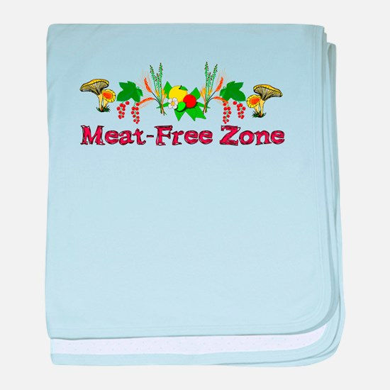 Meat-Free Zone baby blanket