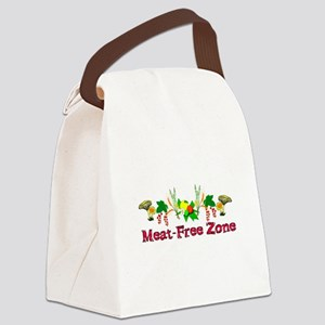Meat-Free Zone Canvas Lunch Bag