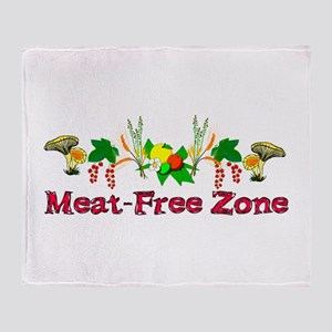 Meat-Free Zone Throw Blanket