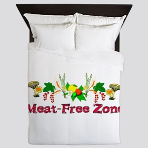 Meat-Free Zone Queen Duvet