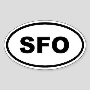 SFO San Francisco Sticker