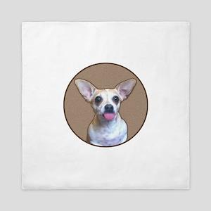 Funny Puppy Jack Chi Queen Duvet