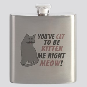 Kitten Me Right Meow Flask