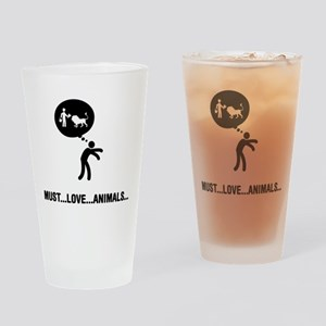 Zookeeping Drinking Glass