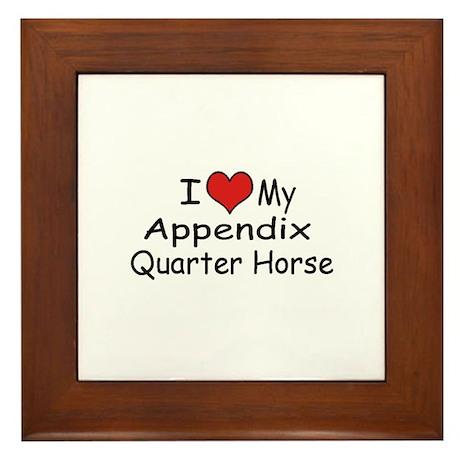 """I """"Heart"""" My Appendix Quarter Framed Tile"""
