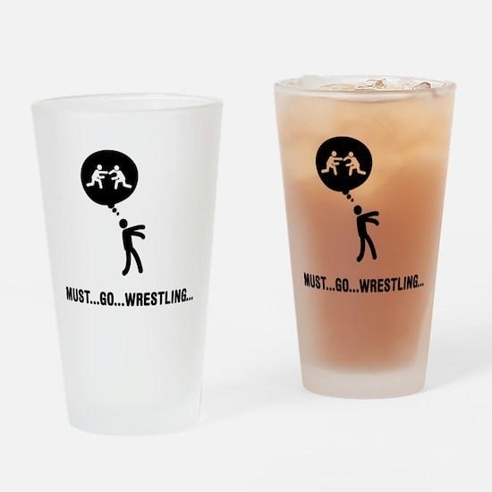 Wrestling Drinking Glass