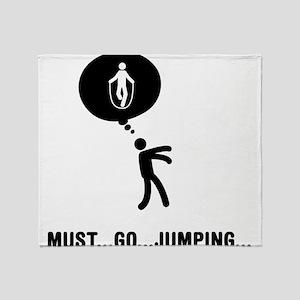 Rope Jumping Throw Blanket