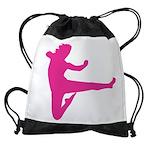 Karate Girl Drawstring Bag