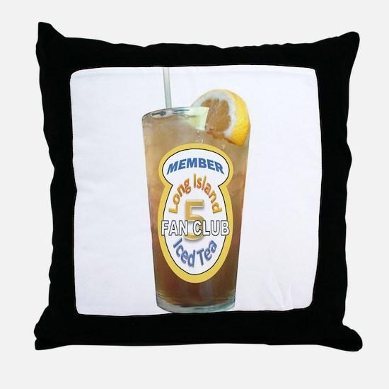 Long Island Iced Tea Fan Club Member Throw Pillow