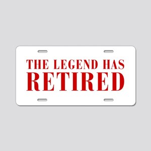 legend-has-retired-BOD-BROWN Aluminum License Plat