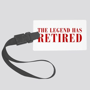 legend-has-retired-BOD-BROWN Luggage Tag