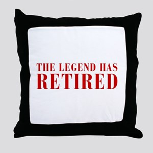 legend-has-retired-BOD-BROWN Throw Pillow