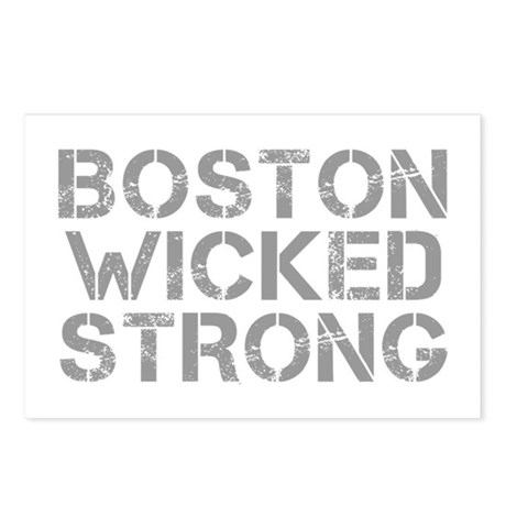 boston-wicked-strong-cap-gray Postcards (Package o