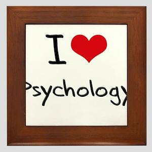 I Love PSYCHOLOGY Framed Tile