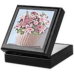 Floral Basket Keepsake Box