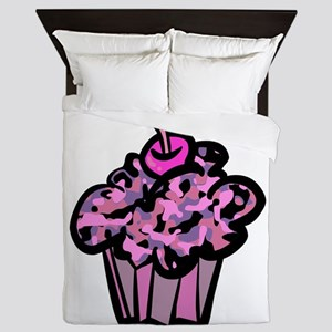 Pinks And Purples Camouflage Cupcake Queen Duvet