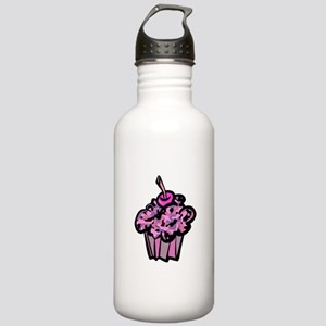 Pinks And Purples Camouflage Cupcake Stainless Wat