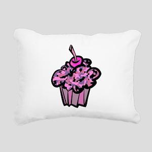 Pinks And Purples Camouflage Cupcake Rectangular C