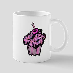 Pinks And Purples Camouflage Cupcake Mug