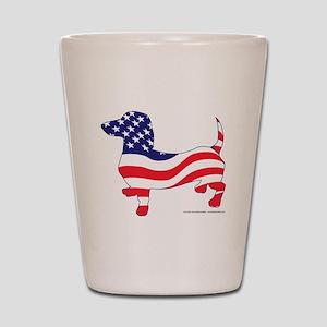 Patriotic Dachshund Shot Glass