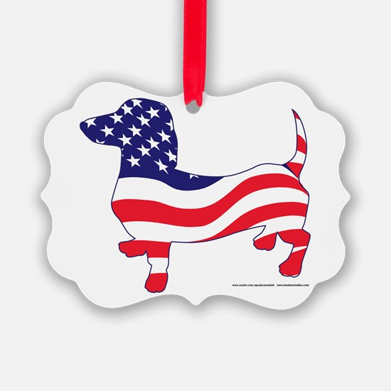 Patriotic Dachshund Ornament